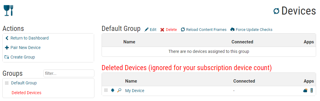 The Deleted Devices Group