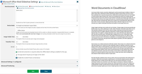 MS Word App