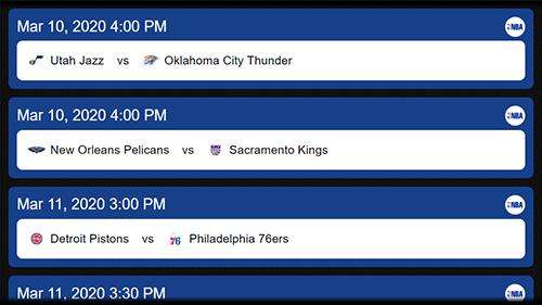 NBA Schedule App