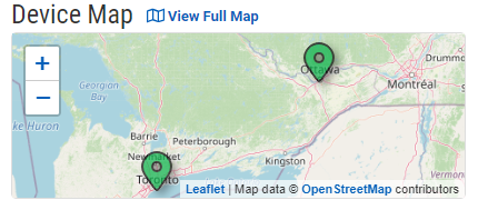 Dashboard Map with Full Map Link at the Top