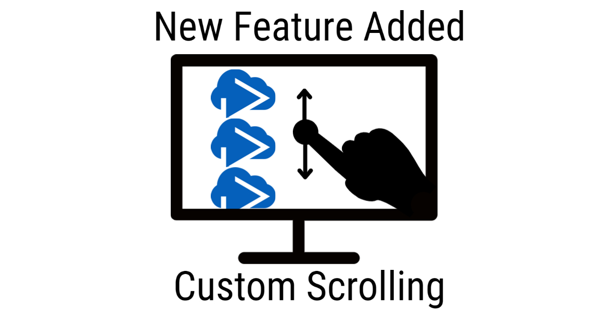 Try custom scrolling on CloudShow Today